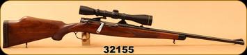 "Consign - Steyr Mannlicher - 30-06Sprg - Model MCA - Walnut/Blued, 22""Barrel, c/w Leupold VX-II, 3-9x40, Duplex Reticle"