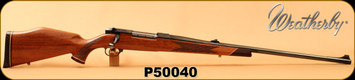 """Consign - Weatherby - 378WbyMag - Mark V Deluxe - Walnut w/Ebony Forend/Blued, 26""""Barrel, Factory Pendleton Brake, Factory Sights, Made in Germany - Brass & Factory Ammo available"""