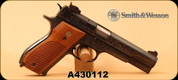 "Consign - Smith & Wesson - 38Spl - Model 52-2 - Wood Grips/Engraved Blued, 5""Barrel, 2 magazines - In original box"