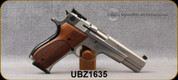 """Consign - Smith & Wesson - 9mm - Model 952-2 Performance Center - Wood Grips/Stainless, 5""""Barrel, Adjustable rear sight, Mfg# 170244 - Very low rounds fired - In chrome Performance Center hard case"""