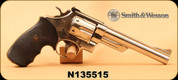 """Consign - Smith & Wesson - 44Mag - Model 29-2 - Revolver -  Black Polymer Grips/Nickle-Plated, 6.5""""Barrel - In leather soft case"""