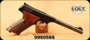"Consign - Colt - 22LR - Woodsman - Semi-Auto - Wood Grips/Blued, 6""Barrel"