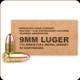 Remington - 9mm Luger - 115 Gr - Military/Law Enforcement Training Ammunition - Full Metal Jacket - 50ct - 23959