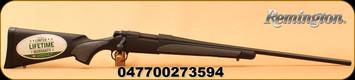 "Remington - 308Win - Model 700 SPS - Bolt Action Rifle - Black Synthetic Stock/Matte Blued Finish, 24"" Barrel, 4 Rounds, Mfg# 27359"