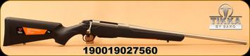 "Tikka - 22-250Rem - T3X Lite - Bolt Action Rifle - Black Modular Synthetic Stock/Stainless, 22.4""Barrel, Mfg# TFTT13LL103"