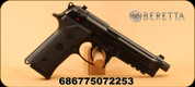 "Beretta - 9mm - M9A3 - Semi-Auto Single/Double Action - Black Finish, 5"" Threaded Barrel, Universal Slide, Built-in Picatinny Rail, Mfg# 5M61141724111"