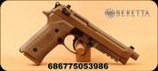 "Beretta - 9mm - M9A3 - Semi-Auto Single/Double Action - FDE Cerakote Finish, 5"" Threaded Barrel, Universal Slide, Built-in Picatinny Rail, Mfg# JS92M9A3"