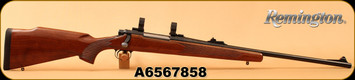 """Consign - Remington - 270Win - Model 700 ADL - Walnut/Glass Bedded Action/Blued, 22""""Barrel, 15 degree muzzle crown, Basix Trigger, Pachmayr Decelerator Pad, c/w 1""""Leupold PRW rings, Warne Maxima Bases, Target papers"""