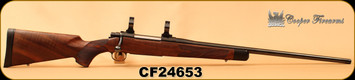 """Used - Cooper - 275 Rigby - M52 Custom Classic - AAA Claro Walnut stock w/shadowline cheek piece & African ebony tip/Blued, 24""""Barrel, western-fleur wrap around hand checkering, hand rubbed oil finish, Pachmayr recoil pad, 1""""Rings"""