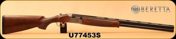 """Beretta - 12Ga/3""""/28"""" - Model 686 Silver Pigeon I - O/U - Walnut Stock/scroll-engraved receiver/Blued Barrels, 6x6Rib, Mfg# J6863J8"""