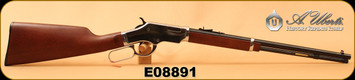 "Uberti - 22Mag - Silverboy - Lever Action Rifle - Straight Grip Walnut Stock/Chrome Receiver/Blued, 19""Barrel, 10 Rd, Mfg# 2201, SKU# 686775042553, S/N E08891"
