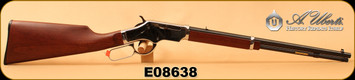 "Uberti - 22LR - Silverboy - Lever Action Rifle - Straight Grip Walnut Stock/Chrome Receiver/Blued, 19""Barrel, 10 Rd, Mfg# 2200, SKU# 686775031007, S/N E08638"