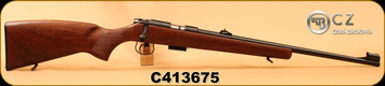 "CZ - 17HMR - 455 Lux - Turkish Walnut 'Lux' pattern stock/Blued, 20.7""Barrel, 5rd magazine, Adjustable Sights, Integral 1mm dovetail, S/N C413675"