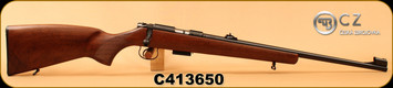 "CZ - 17HMR - 455 Lux - Turkish Walnut 'Lux' pattern stock/Blued, 20.7""Barrel, 5rd magazine, Adjustable Sights, Integral 1mm dovetail, S/N C413650"