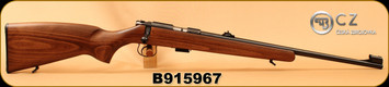 "CZ - 22LR - 455 Standard - Rimfire Rifle - Beech Wood Stock/Blued, 20.7""Barrel, S/N B915967"