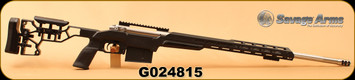 """Consign - Savage - 300WinMag - Model 112 - LH -  Black MDT Chassis/Stainless, 26""""Heavy Barrel, 18"""" Handguard, Timney Trigger"""