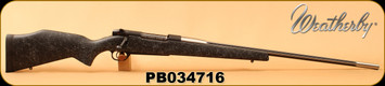 """Used - Weatherby - 270WbyMag - Mark V Accumark - Black w/Grey Web Composite stock/Stainless, Free Floated, Fluted, 26""""Barrel, 1:10""""Twist"""