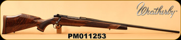 """Weatherby - 6.5-300WbyMag - Mark V Deluxe - AA fancy grade Claro walnut Monte Carlo stock w/rosewood caps & Maplewood spacers/High Lustre Blued, 26""""Barrel, LXX Trigger, Mfg# MDXM653WR6O, S/N PM011253"""