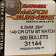 "Barnes - 6.5mm (.264"") - 140 Gr - Match Burners - Competition Grade - OTM (Open Tip Match) - Boat Tail - 500ct - 31144"