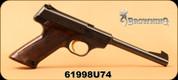 "Consign - Browning - 22LR - Nomad - Polymer Grips/Blued, 6.75""Barrel, gold trigger - Made in Belgium"