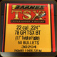 "Barnes - 22 Cal (.224"") - 78 Gr - TSX (Triple-Shock X) - Boat Tail - 50ct - 30204"