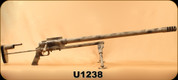 Used - Noreen Firearms - 50BMG - ULR - Single-Shot Bolt Action Rifle - Camo Finish Noreen, Collapsible Stock, Timney Adjustable Trigger, Noreen Design 1.25-12 Thread Muzzle Brake