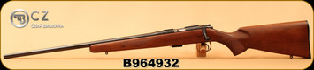 "CZ - 22LR - 452-2E American LH - Bolt Action Rifle - American Style Turkish Walnut/Blued, 22.52"" Barrel, 5rd Detachable Magazine, Integrated 3/8""Dovetail, Mfg# 02017, S/N B964932"