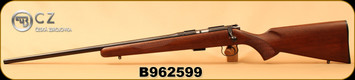 "CZ - 22LR - 452-2E American LH - Bolt Action Rifle - American Style Turkish Walnut/Blued, 22.52"" Barrel, 5rd Detachable Magazine, Integrated 3/8""Dovetail, Mfg# 02017, S/N B962599"