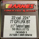 Barnes - 22 Cal - 77 Gr - LRX (Long-Range X) - Boat Tail - 50ct - 30881
