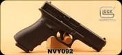"Consign - Glock - 40S&W - Model 22RTF2 Gen 4 - Black Finish, 4.9""Barrel, Curved Serrations (Gills), c/w 2 magazines, speed loader, less than 1 box of shells fired - In original case"