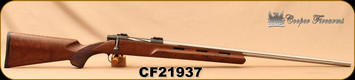 "Consign - Cooper - 6.5Creedmoor - M22 Montana Varminter - AA+ Claro Walnut stock w/fluted forearm/Stainless, 26""Fluted Barrel, Unfired/Unused - No box"