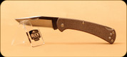 Buck Knives - Slim Ranger - Nail Notch - Pro Brown Canvas Micarta - 3112BRS6