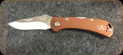 Buck Knives - Spitfire - Nail Notch - Anodized Aluminum Rootbeer Handle w/Grey Liner - 3722BRS1