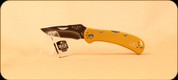 Buck Knives - Spitfire - Nail Notch - Anodized Aluminum Yellow Handle w/Black Liner - 3722YWS2