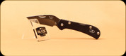 Buck Knives - Mini Spitfire - Nail Notch - Anodized Aluminum Black Handle w/ Red Liner - 3726BKS2