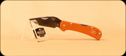 Buck Knives - Mini Spitfire - Nail Notch - Anodized Aluminum Orange Handle w/Grey Liner -3726ORS1