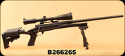 """Consign - Howa - 243Win - Model 1500 Axiom - Black Synthetic/Blued, 24""""Heavy Barrel, c/w Nikko Stirling, 4-16x44, Duplex Reticle, Nighteater Scope, Rings & Bases, Champion Bi-Pod - Only 50 rounds fired"""