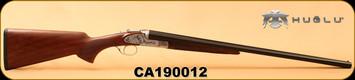 "Huglu - 20Ga/3""/26"" - 200AC - SxS Single Trigger - Select Turkish Walnut/Silver Receiver w/Gr5 Hand Engraving/Blued Barrels, 5pc. Mobile Choke, SKU# 8682109400176, S/N CA190012"