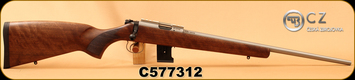 "CZ - 22WMR - 455 Stainless Wood - Turkish Walnut/Stainless, 20.7""Barrel, 10rd magazine, adjustable trigger, S/N C577312"