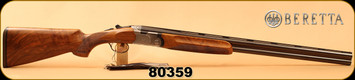 "Consign - Beretta - 12Ga/2.75""/28"" - Model 687 Tricentennial 1680-1980 - O/U - Select Walnut/Hand Engraved Receiver/Blued, c/w Certificate of Authenticity, number 59 of only 200 made - In original case w/box - Unfired"