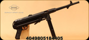 "GSG - 22LR - MP40 - Semi Automatic Rifle - Black Foldable Synthetic stock/Blued, 11.8""Barrel, Adjustable sights, 23 round detachable magazine, Mfg# 440.00.10 Non-Restr."