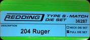Redding - Type S-Match Die Set - 204 Ruger - 36287