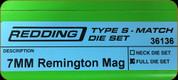 Redding - Type S-Match Full Die Set - 7mm Rem Mag - 36136