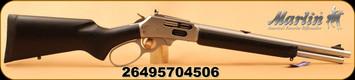 """Marlin - 45-70Govt - Model 1895TSBL Trapper - Big Loop Lever Action - Black w/Black Web Laminate Stock/Stainless, 16.5""""Barrel, Skinner Sights, Mfg# 70450"""