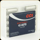 CCI - 45 Auto - 120Gr - Shot 9 - 1/3oz - 10ct - 3745