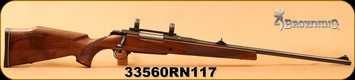 "Consign - Browning - 300WM - BBR - Walnut/Gloss Blued, 24""Barrel, 1"" scope rings"