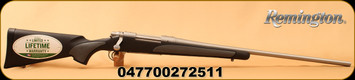 """Remington - 25-06Rem - Model 700 SPS Stainless - Bolt Action Rifle - Black Synthetic Stock/Stainless Steel Finish, 24"""" Barrel, 4 Rounds, Mfg# 27251"""