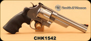 "Used - Smith&Wesson - 44Mag - Model 629 - Revolver - Rubber Grip/Stainless, 6"" Barrel, 6 Rounds, Mfg# 163606 - Only 50 rounds fired"