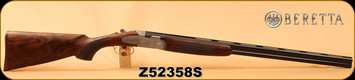 "Beretta - 28Ga/2.75""/28"" - 687 EELL Diamond Pigeon - Premium-Quality European Walnut w/inlaid oval in stock/Hand-Chased Engraving/Blued, 5pc. Choke, S/N Z52358S"
