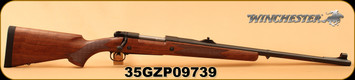 "Winchester - 375H&H - Model 70 Safari Express - Grade I Walnut w/Deluxe Cheekpiece/Matte Blued, 24""Barrel, Fully Adjustable rear sight, hooded front sight, Mfg# 535204161, S/N 35GZP09739"